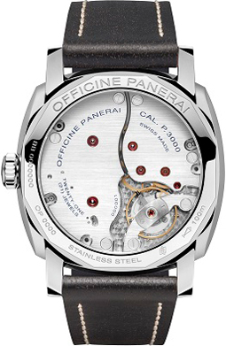 caseback of Panerai Radiomir 1940 3 Days (PAM00514)