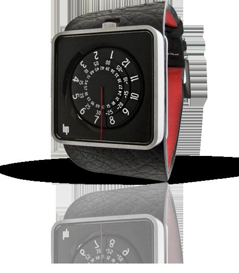 wristwatch Lip Automythic noir & silver