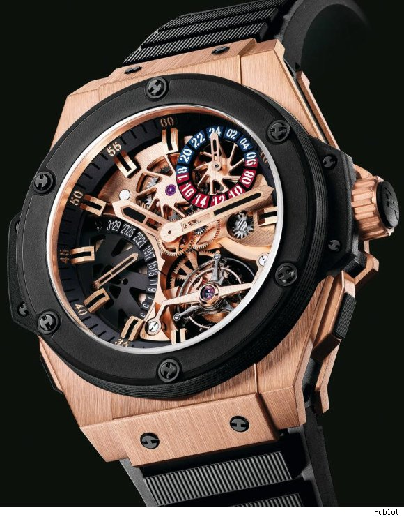 wristwatch Hublot Gold King Power Tourbillon GMT