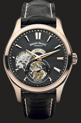 wristwatch Armand Nicolet Rose gold with black deal