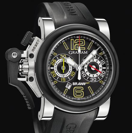 wristwatch Graham Chronofighter Oversize G-BGP-001 Black