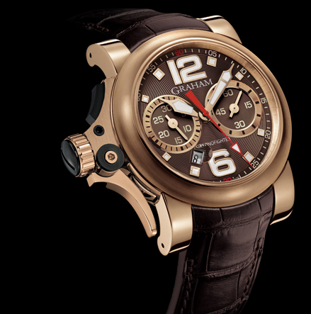 wristwatch Graham Chronofighter R.A.C Trigger Gold Havana Rush