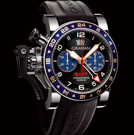 wristwatch Graham CHRONOFIGHTER OVERSIZE GMT BLUE STEEL