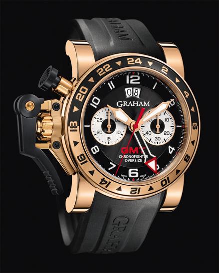 wristwatch Graham CHRONOFIGHTER OVERSIZE GMT BLACK GOLD