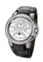 wristwatch Harry Winston Ocean Chrono (WG_Diamonds / Black Leather)