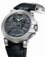 wristwatch Harry Winston Ocean Chrono (WG / Black Leather)