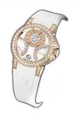 wristwatch Harry Winston Ocean Biretro (RG_Diamonds / White Rubber)