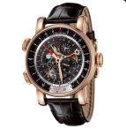 wristwatch Rose gold skeleton black dial