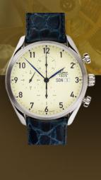 wristwatch Valjoux 44 blue 2