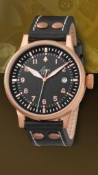 wristwatch Elegant Pilot Rosegold 42 Type A, automatic