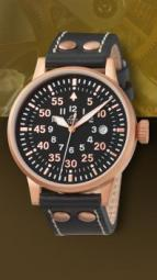 wristwatch Elegant Pilot Rosegold 42 Type B, quartz