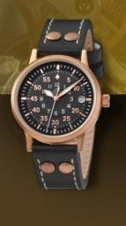wristwatch Elegant Pilot Rosegold 36 Type B, quartz