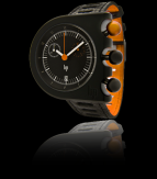 wristwatch Black orange Aluminium