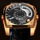 wristwatch Klepcys Pink Gold
