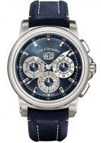 wristwatch Carl F. Bucherer Patravi Chrono Date Blue Wave