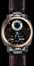 wristwatch Firenze Dual Time Drass Gold