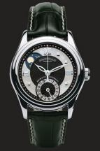 wristwatch Black guilloché and White MOP