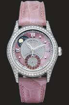 wristwatch Silvered guilloché and Pink MOP