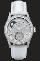 wristwatch Silvered guilloché and White MOP
