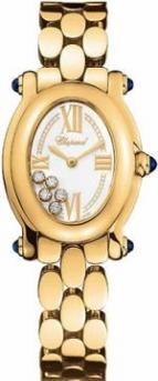 wristwatch Happy Sport Oval 5 Floating Diamonds