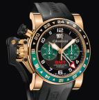 wristwatch CHRONOFIGHTER OVERSIZE GMT BLACK BRG GOLD