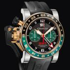 wristwatch CHRONOFIGHTER OVERSIZE GMT BLACK BRG STEEL & GOLD