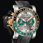 wristwatch CHRONOFIGHTER OVERSIZE GMT SILVER BRG STEEL & GOLD