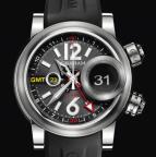 wristwatch Swordfish Grillo Alarm GMT Black Eye
