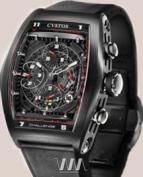 wristwatch Cvstos Challenge Chrono Black Steel