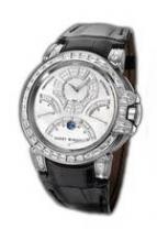 wristwatch Ocean Chrono (WG_Diamonds / Black Leather)
