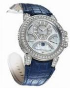 wristwatch Ocean Chrono (WG_Diamonds / Blue Leather)
