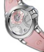 wristwatch Harry Winston Ocean Biretro (WG / Pink Rubber)