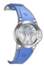 wristwatch Harry Winston Ocean Biretro (WG / Blue Rubber)