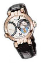 wristwatch Excenter Timezone (RG / White / Leather)