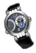 wristwatch Excenter Timezone (WG / Grey / Leather)