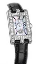 wristwatch Avenue Lady (WG_Diamonds / MOP / Black Strap)