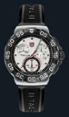 wristwatch Formula 1 Chronograph (SS / White / Rubber)