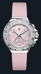wristwatch Formula 1 Diamond Chronograph (SS-Diamonds / Pink / Strap)