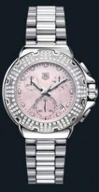 wristwatch Formula 1 Diamond Chronograph (SS-Diamonds / Pink / SS)
