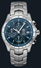 wristwatch Link Automatic Chronograph (SS / Blue / SS)