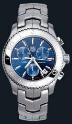 wristwatch Link Quartz Chronograph (SS / Blue / SS)