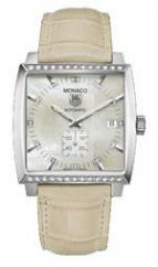 wristwatch Monaco Automatic (SS-Diamonds / MOP / Leather)