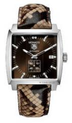 wristwatch Monaco Automatic (SS / Brown-Diamonds / Leather)