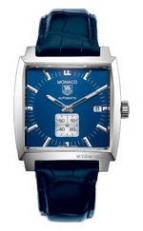 wristwatch Monaco Automatic (SS / Blue / Leather)