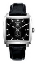 wristwatch Monaco Automatic (SS / Black / Leather)