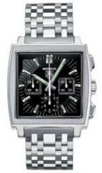 wristwatch Monaco Automatic Chronograph (SS / Black / SS)