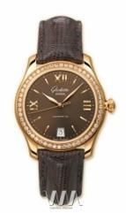 wristwatch Glashutte Original Lady Serenade (RG_Diamonds Mocha Leather)