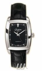 wristwatch Glashutte Original Lady Serenade Karree (SS Black Leather)