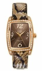 wristwatch Glashutte Original Lady Serenade Karree (RG_Diamonds Brown Leather)