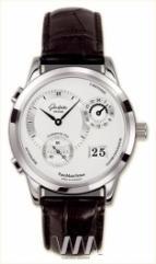 wristwatch Glashutte Original Panomaticvenue (SS / Silver / Leather)